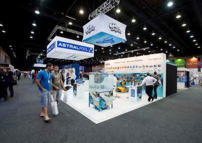 Astrapool and Maytronics stands